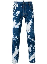 Dsquared2 Acid Wash Jeans Blue