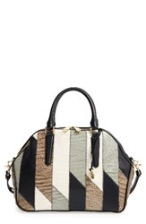 Brahmin Hudson Patchwork Leather Satchel