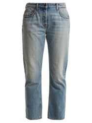 The Row Ashland Mid Rise Straight Leg Jeans Denim