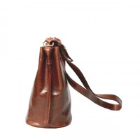 Maxwell Scott Bags Tan Leather Bucket Bag