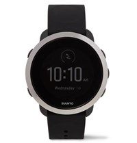 Suunto 3 Fitness Stainless Steel And Silicone Digital Watch Black