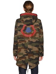 Moncler Peter Reversible Camo And Nylon Parka