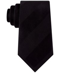 Sean John Men's Dressy Solid Stripe Tie Black