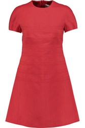 Valentino Cotton And Silk Blend Mini Dress Red
