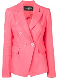 Luisa Cerano Double Breasted Blazer Pink
