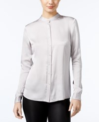 Guess Catee Collarless Shirt Dusty Silver