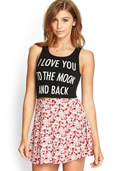 Forever 21 Eternal Love Crop Top Black Taupe