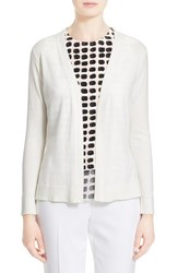 Women's Kate Spade New York Cotton And Cashmere Open Cardigan Cream