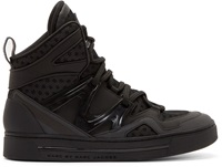 Marc By Marc Jacobs Black Ninja Leather High Top Sneakers