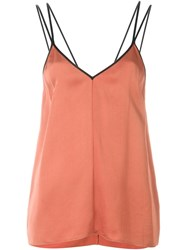 Forte Forte Contrast Strap Cami Top Yellow And Orange