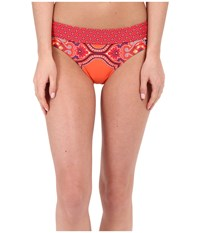 Prana Ramba Bikini Bottom Neon Orange Jasmine Women's Swimwear