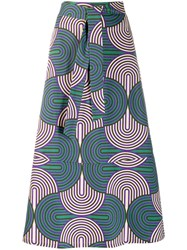 La Doublej Printed Midi Skirt Green