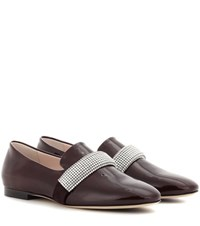 Christopher Kane Embellished Leather Loafers Brown