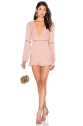 For Love And Lemons Lilou Floral Romper Pink