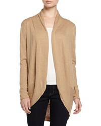 Neiman Marcus Long Sleeve Knit Cocoon Cardigan Camel