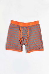 Urban Outfitters Striped Boxer Brief Charcoal