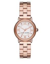 Marc Jacobs Rose Goldtone Stainless Steel Link Bracelet Watch Mj3474