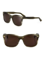 Gucci 56Mm Oversized Square Sunglasses Havana