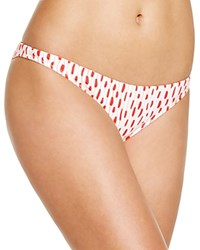 Milly Fluorescent Jacquard Bikini Bottom Neon Orange
