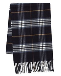 The Men's Store At Bloomingdale's Plaid Scarf Navy