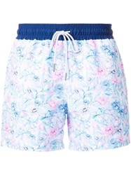 Venroy 'Core Range' Printed Swim Shorts White