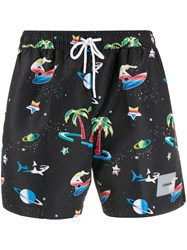 Calvin Klein All Over Print Swim Shorts Black