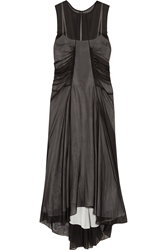 Reed Krakoff Gathered Silk Chiffon Dress Black