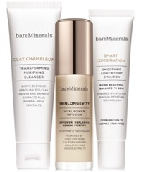 Bareminerals 3 Pc. Skinsorials Purify Empower Moisturize Normal To Combination Skin Set A 82 Value No Color