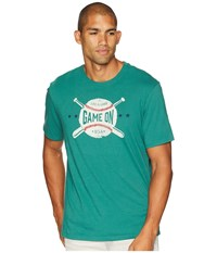 Life Is Good Game On Baseball Smooth T Shirt Forest Green T Shirt