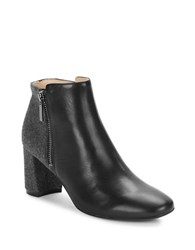 Karl Lagerfeld Colorblocked Leather Ankle Boots Black Grey