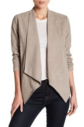 Tahari Jaimee Genuine Leather Jacket Gray