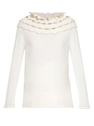 Alex Gore Browne Carnival Wool And Cashmere Blend Sweater Ivory