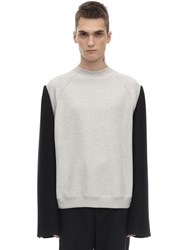 Maison Martin Margiela Cotton Crewneck Sweater Grey