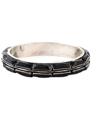Goti Rectangle Shaped Onyx Bangle