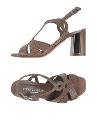Pons Quintana Footwear Sandals Women Dove Grey