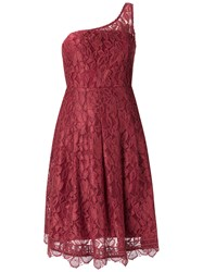 Martha Medeiros Lace Asymmetric Dress Women Cotton Polyamide Viscose 40 Red