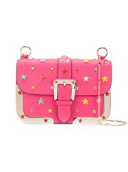 Red Valentino Stars Studded Shoulder Bag Pink Purple