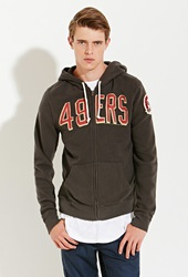 Forever 21 Junk Food Nfl San Francisco 49Ers Hoodie Black Red
