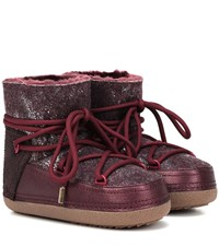 Inuikii Burret Ankle Boots Red