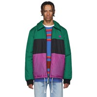 Acne Studios Green Stripe Odgar Face Jacket