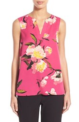 Women's Adrianna Papell Floral Print Sleeveless Blouse