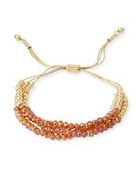 Fragments For Neiman Marcus Crystal Beaded Pull Tie Bracelet Gold