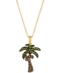 Le Vian Exotics Diamond Palm Tree Pendant Necklace 5 8 Ct. T.W. In 14K Gold Yellow Gold