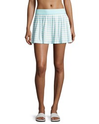 Kate Spade Nahant Shore Striped Coverup Skirt Light Blue