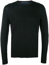 Kiton Crew Neck Jumper Men Wool Xl Black