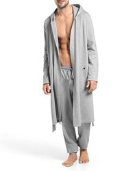 Hanro Luis Hooded Wrap Robe Gray Light Gray