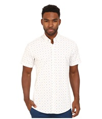 Publish Clint Button Up White Multi Men's Short Sleeve Button Up