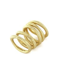 Louise Et Cie Textural Ring Set Of 5 Gold