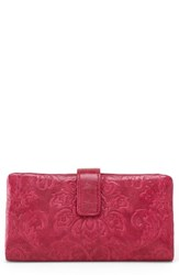 Hobo Women's Issy Continental Wallet Burgundy Damask Red Plum