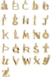 Monica Vinader Monic Vinder Z Lphbet Letter Gold Plted Pendnts